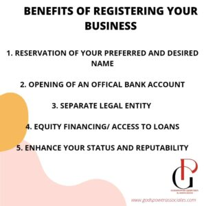 BENEFITS OF REGISTERING YOUR BUSINESS